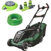 Bosch Advanced Rotak 650 Kit 1700W 41cm Lawn Mower with 15m Hose, 9 Pattern Sprinkler & 4pc Hose Connector