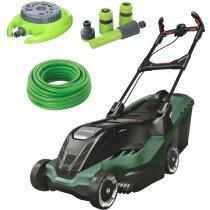 Bosch Advanced Rotak 750 Kit 1700W 45cm Lawn Mower with 15m Hose, 9 Pattern Sprinkler & 4pc Hose Connector