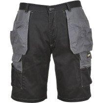Portwest KS18 Granite Holster Shorts - Black/Zoom Grey