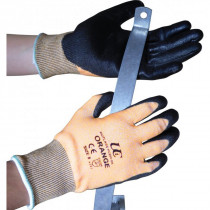 Ultimate Kutlass PU300-OR Polyurethane Coated Glove Orange-Size 8