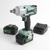"Kielder KWT-012-51 18V 1/2"" 700NM Brushless Impact Wrench with 2 x 4.0Ah Batteries in Stackable Carry Case."
