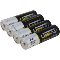 Lighthouse LR6 AA Alkaline Batteries 2400 mAh (Pack 4) L/HBATAA