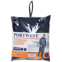 Portwest L440 Essentials Rain Suit (2 Piece Suit) - Navy Blue