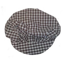 Lawson-HIS CL822 [CL] Brown Gingham Nylon Mob Cap With Peak