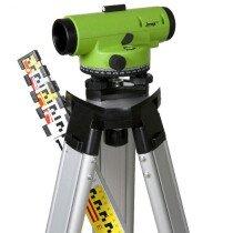 Imex 012-ILAR28S LAR28 Auto Optical Dumpy Level 28 X Zoom Kit with Staff and Tripod