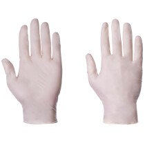 Supertouch 1050 Natural Clear Latex Powdered Disposable Gloves