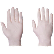 Lawson-HIS 1050 Natural Clear Latex Powdered Disposable Gloves