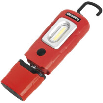 Sealey LED3601R Rechargeable 360° Inspection Lamp 2W COB + 1W LED Red