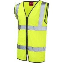 Leo 1110FRZ Hi-Vis Yellow EN533 FR Vest Waistcoat Zipped Front XXXL (3XL)