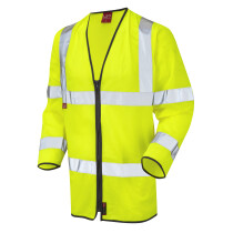 Leo 1255FRZ Hi-Vis EN533 FR Long Sleeve Zip Vest Jacket Yellow (Limited Sizes)