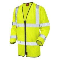 Leo 1255FRZ Hi-Vis EN533 FR Long Sleeve Zip Vest Jacket Yellow (Limited Sizes)