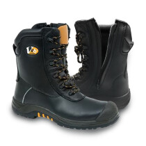 V12 VR6 VR695 Leopard Black, High Leg, Zip Side, Safety Boot (UK Size 6)