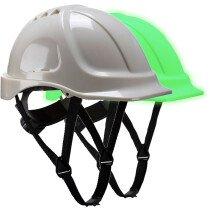 Portwest PG54 Endurance Glowtex Helmet - Glow in the Dark - White