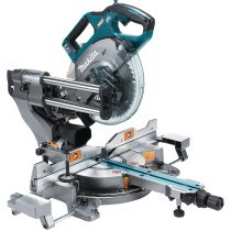 Makita LS002GD203 40v XGT 216mm Slide Mitre Saw with 2 Batteries and Charger