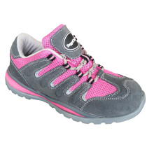 Rugged Terrain LT78P Ladies Pink Suede/Nylon Safety Trainer SB