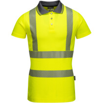 Portwest LW72 Ladies Hi-Vis Pro Polo Shirt High Visibility - Yellow