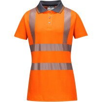 Portwest LW72 Ladies Hi-Vis Pro Polo Shirt High Visibility - Orange