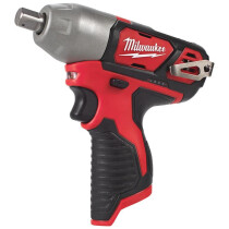 """Milwaukee M12BIW12-0 M12 Sub Compact Body Only Impact Wrench 1/2"""" Reception"""