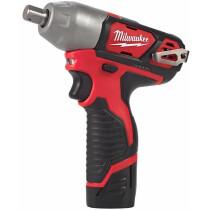"Milwaukee M12BIW12-202C  M12 Sub Compact Impact Wrench 1/2"" Reception (2 x 2.0ah Li-ion batteries, charger, BMC)"