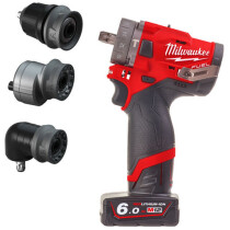 Milwaukee M12FPDXKIT-602X M12 Combi Drill with Quick Change Chucks and 2 x 6.0Ah Batteries