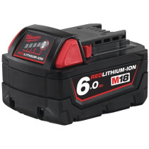 Milwaukee M18B6 6.0Ah Red Lithium-Ion Battery 18V