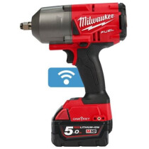 "Milwaukee M18ONEFHIWF12-502X M18 Fuel One Key 1/2"" High Torque Impact Wrench with 2 x 5.0Ah Batteries"