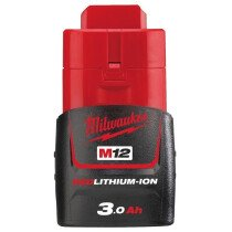 Milwaukee M12B3 3.0Ah Red Lithium-Ion Battery 12V