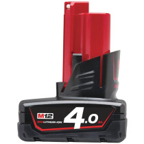 Milwaukee M12B4 12v 4.0Ah REDLITHIUM Ion Battery