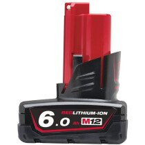 Milwaukee M12B6  6.0Ah Red Lithium-Ion Battery 12V