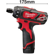 Milwaukee M12BD-202C 12V Li-ion Compact Screwdriver (2x2Ah)
