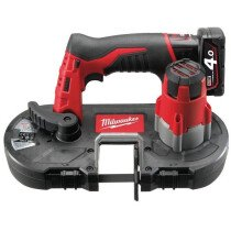 Milwaukee M12BS-402C M12 Cordless Band Saw (2 X 4.0ah Li-ion batteries, charger, BMC)