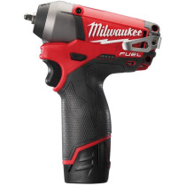 "Milwaukee M12CIW14-202C 12v Li-ion 1/4"" Drive Impact Wrench (2x2Ah)"