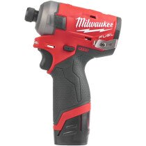 Milwaukee M12FQID-202X M12 Fuel Surge Hydraulic Impact Driver with 2 x 2.0Ah Batteries, Charger and Case
