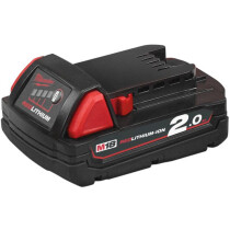 Milwaukee M18B2 18V 2.0Ah Red Lithium Ion Battery