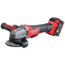 Milwaukee M18CAG115XPDB-502X M18 Fuel Braking Grinder Paddle Switch (2 x 5.0ah batteries, charger, dynacase)
