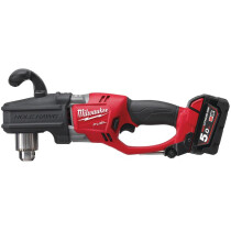 Milwaukee M18CRAD-502X M18 Fuel Right Angle Drill Driver (2 x 5.0ah Li-ion, charger, BMC)
