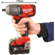 Milwaukee M18FMTIWF12-502X M18 Mid Torque Impact Wrench with Friction Ring  (2 x 5.0ah batteries, charger, dynacase)