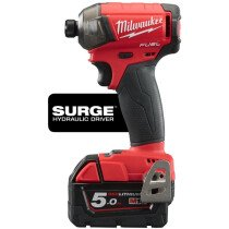 Milwaukee M18FQID-502X M18 Fuel Quiet Impact Driver ( 2 x 5.0Ah batteries, fast charger, dynacase)