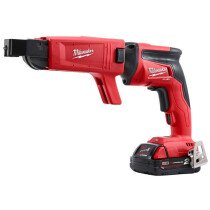Milwaukee M18FSGC-202X M18 Fuel Drywall Screwgun with Collated Attachment (2 x 2.0ah Batteries, Charger, Dynacase)
