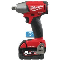 """Milwaukee M18ONEIWF12-502X M18 ONE-KEY Fuel Impact Wrench Friction Ring (1/2"""") (2 x 5.0ah batteries, fast charger, dynacase)"""