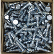 Lawson 1456474 M8 x 30mm Hex Head Coach Screws BZP Din571 (Box of 200)