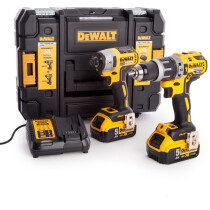 Dewalt DCK266P2T-GB Combi Drill and Impact Driver XR 18V Brushless Kit with 2x 5.0Ah Batteries in TSTACK Case