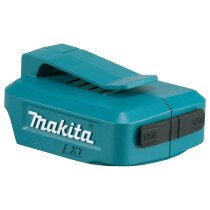 Makita DEB ADP05  Battery Adaptor with 2 x USB Outlets (Replaces DEAADP05)