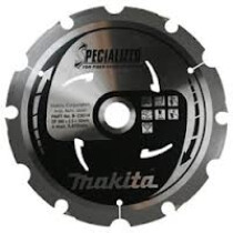 Makita B-23014 260mm 6 Tooth PCD Circular Saw Blade for Fibre Cement Board