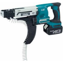Makita DFR550RTJ 18v Auto Feed Screwdriver with 2 x 5.0Ah Batteries (Replaces DFR550RMJ)