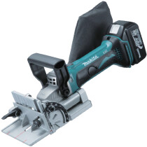 Makita DPJ180RTJ 18V Li-ion Biscuit Jointer with 2 x 5.0Ah Batteries