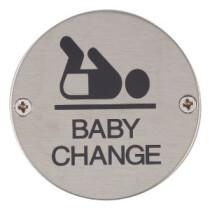 Marcus SS-SIGN003-S Satin Baby Change Door Sign