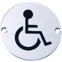 Marcus SS-SIGN024-P Polished Disabled Symbol