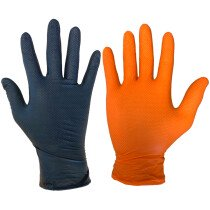 Warrior Nitrile Fish Grip Disposable Gloves (Box of 50)