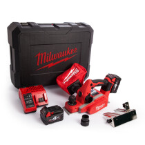 Milwaukee M18BP-402C M18 Planer (2 x 4.0ah batteries, charger, BMC)